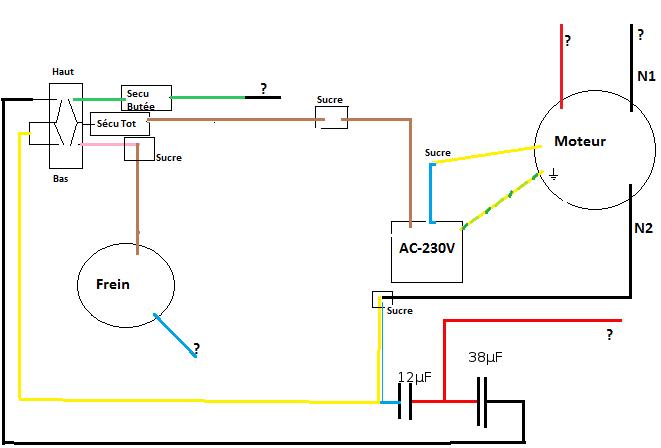 palan moteur 4 fils 2 condensateurs frein forums de volta electricit. Black Bedroom Furniture Sets. Home Design Ideas